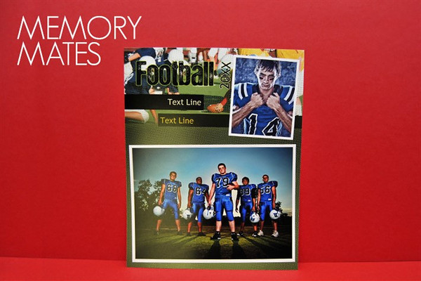 <center>~$30.00~ Memory Mates make it easy to reminisce about season's past. Each features an individual shot of the athlete, along with a group photo of the team.  Size 8X10 </center>