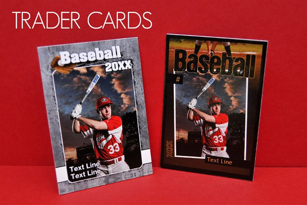 <center>~$25.00 ~ (qty 12) Your athletes can feel like pros with their own personalized Trader Cards. The  double-sided cards, which feature one of our specially designed sports templates and includes important season information like team name, position, and team coach.  </center>
