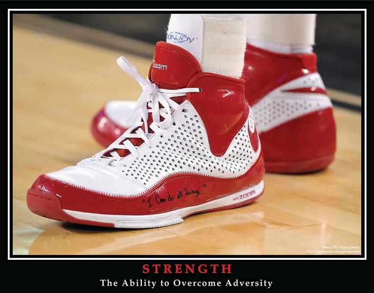 Stephen Curry's Shoe - NCAA Sweet 16 2008 Against Kansas - Taken in Detroit, MI