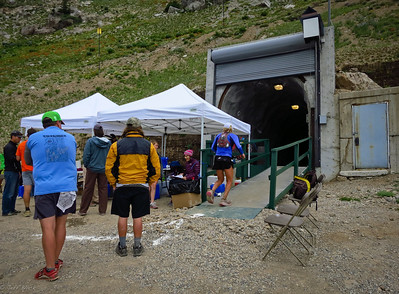 Tunnel aid station, to get to the Snowbird side.