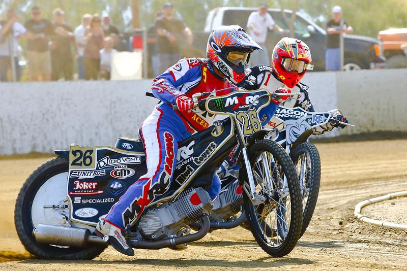 Tyson Burmeister leads Max Ruml