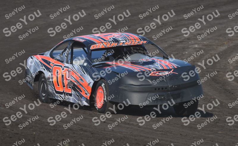 -Messenger photo by Britt Kudla<br /> Chris Ullrich of Stock cars compete during hot laps on Sunday