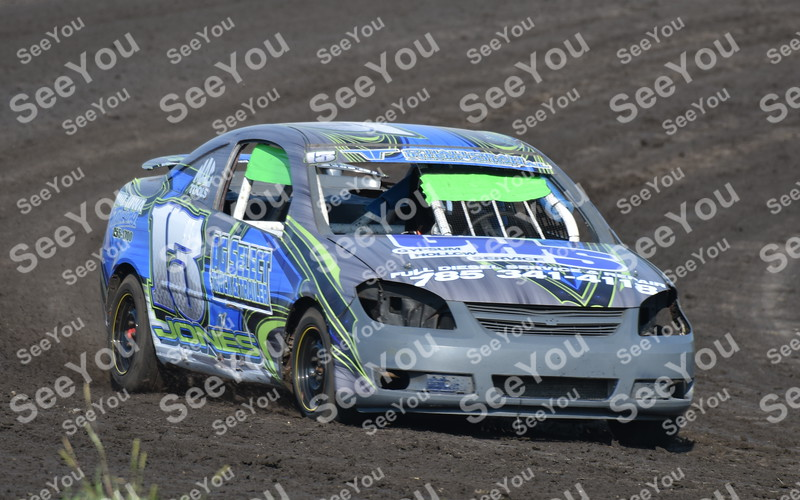 -Messenger photo by Britt Kudla<br /> Lucus Jones of Sport Compacts compete during hot laps on Sunday at Sports Speedway