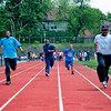 From left to right, Lee Jarvis, Bruce Anthony Brown, Mark Hester and Carl Donalson in the 4th heat of the 50 meter dash.