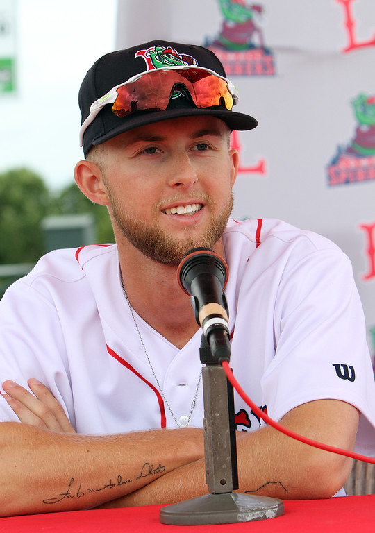. Lowell Spinners Media Day. Outfielder Cole Brannen (18). (SUN/Julia Malakie)