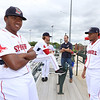 Lowell Spinners Media Day. Pitchers Victor Garcia (51), left, and Eduard Bazardo (19), right.  (SUN/Julia Malakie)