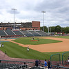 Lowell Spinners Media Day. Field at LeLacheur Park has been redone for better drainage. (SUN/Julia Malakie)