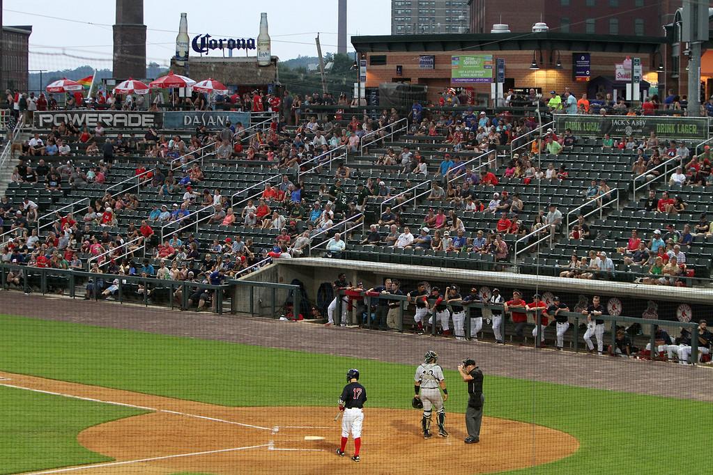 . Fans at Lowell Spinners. (SUN/Julia Malakie)