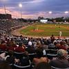 Lowell Spinners vs Hudson Valley baseball. Sun sets on the final regular season home game. (SUN/Julia Malakie)