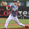 Lowell Spinners vs Connecticut Tigers baseball. Spinners starting pitcher Enmanuel DeJesus. (SUN/Julia Malakie)