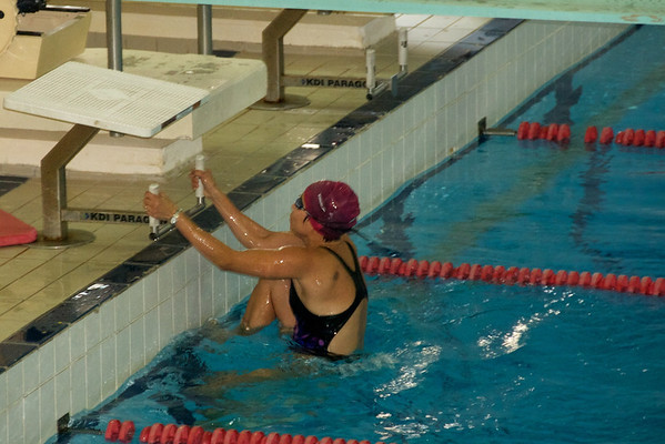 Me, Shock'em Sheila finishing the 50m swim