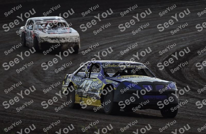 -Messenger photo by Britt Kudla<br /> Calvin Lange compete during Stock Cars finals on Sunday at Sport Park Raceway