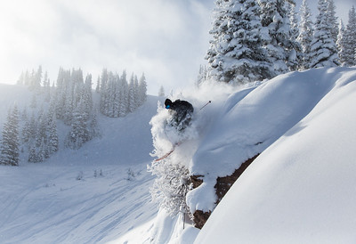 Taylor Seaton takes advantage of fresh snow on Vail Mountain Thursday