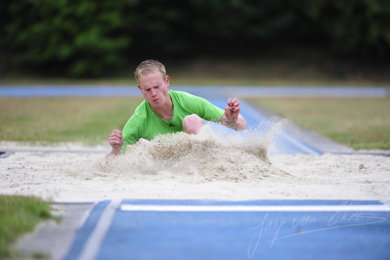 Bram Ruissen training for the long jump (Sportcentrum Papendal, Arnhem)