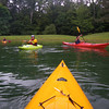 A newly minted sea kayaker passes Ken.