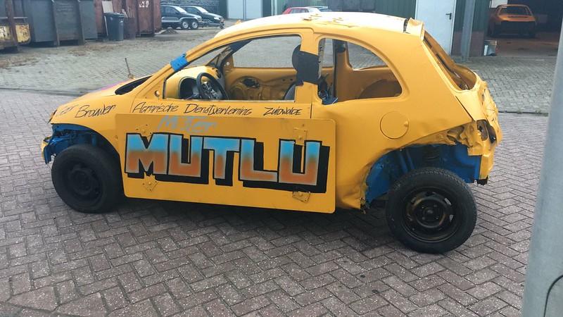 Hier de auto van Deniz Mutlu ook van team Pomp techniek Dedemsvaart.