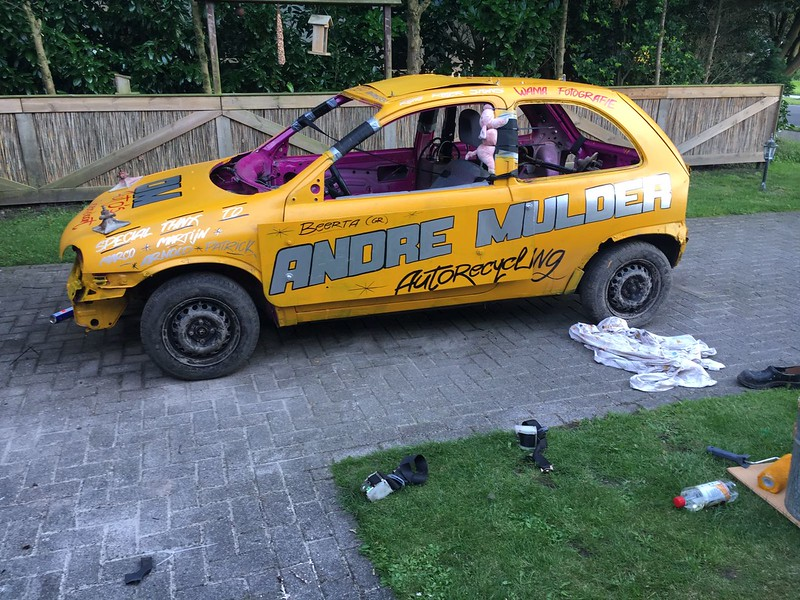 Hier de auto van Rene Reijer ook van team pomptechniek Dedemsvaart.
