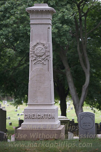 James Creighton, Jr of the Brooklyn Excelsiors tombstone in Green-wood Cemetery in Brooklyn, NY. Did he throw the first curve ball or not?