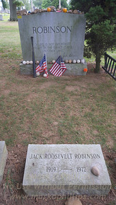 Jackie Robinson Grave in Cypress Hills Cemetery in Queens, New York.