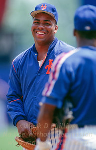 New York Mets Bobby Bonilla in April 1995 at Shea Stadium in New York. Bonilla hasn't played for the New York Mets since 1999,1 but the team has paid him $7.16 million since 2011 and still owes him $22.67 million, to be paid in yearly increments of $1.19 million until 2035.