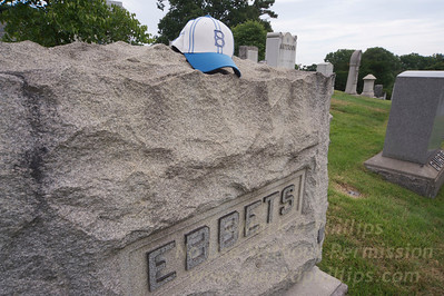 Charles H. Ebbets, builder of Ebbets Field, and early baseball owner, grave in Green-Wood Cemetery in Brooklyn, NY