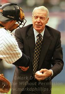 Joe Dimaggio and Joe Girardi at Yankee Stadium
