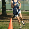Staff photo by Bryan Helvie<br /> Top Twister: Oldenburg Academy freshman Curtis Eckstein placed second overall at the Greensburg cross country invitational.