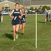 Staff photo by Bryan Helvie<br /> Two by two: Oldenburg Academy's Ashley Sedler (left) and Kirsten Ricke race just ahead of Batesville teammates Sarah and Mary Poltrack.