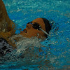 Alicia works on her backstroke timing
