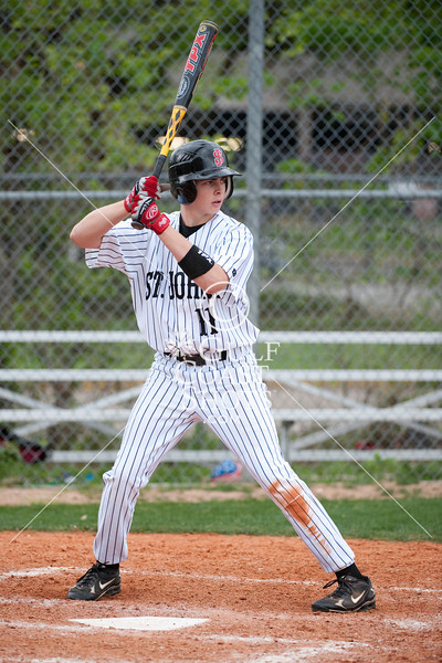 St. John's School hosts The Woodlands Christian Academy for boys varsity baseball. TWCA wins in a high-scoring game.
