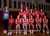 St. John's School's 7th grade girls 2008-09 basektball team poses for team and individual portraits.