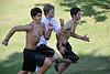 St. John's School Houston SJS Upper School Cross Country team practices along Buffalo Bayou
