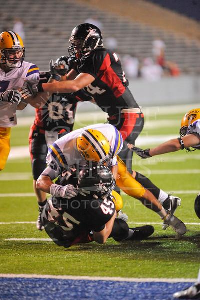 Houston-based St. John's School's varsity football team plays cross-town rival Kinkaid at homecoming in Rice Stadium on Halloween night, Oct. 31, 2008. Kinkaid prevails 24 to 22.