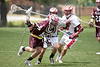 Houston's St. John's School's varsity Mavericks host the Wildcats of Plano for a Lacrosse game mid-day during SJS's Spring JV club and school tournament. The Mavs won in double overtime, 8-7, matching a feat accomplished earlier in the week against nearby Episcopal.