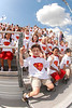 Houston-based St. John's School hosts a pep rally outdoors at Skip Lee Field to prep for the evening's JV1 football competition against cross-town rival Kinkaid.