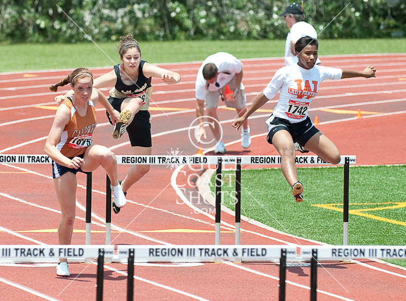Area schools from south-central and southeast Texas compete at Humble High School for the Region III Spring Track & Field UIL meet.