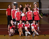 Houston's Saint John's School Middle School 7A Girls Volleyball Team poses for team portraits.