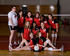 Houston's Saint John's School Middle School 8B Girls Volleyball Team poses for team portraits.