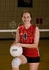 Houston's Saint John's School Upper School Junior Varsity JV1 Volleyball Team poses for team portraits.