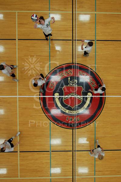 Houston's Saint John's School Upper School Junior Varsity Volleyball Team hosts Episcopal High School.