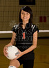 Houston's Saint John's School Upper School JV2 Girls Volleyball Team poses for team portraits.