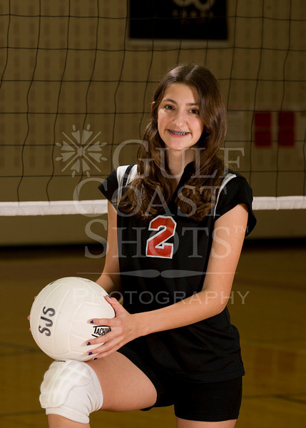 Houston's Saint John's School Upper School JV2 Girls Volleyball Team poses for team portraits.