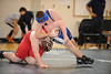 West Briar Middle School hosts the 16-team middle school state wrestling team championship in Houston. In this match, All Saints' Episcopal School of Ft. Worth's Saints wrestlers compete with the Saints of First Baptist Academy of Dallas. All Saints wins.