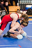 West Briar Middle School hosts the 16-team middle school state wrestling team championship in Houston. In this match, Houston's St. John's School's Mavericks wrestlers compete with First Baptist Academy Saints. SJS wins.