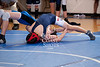 West Briar Middle School hosts the 16-team middle school state wrestling team championship in Houston. In this match, Houston's St. Francis Episcopal Day School Wolves compete with Trinity Christian Academy's Trojans. St. Francis wins.