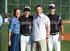 Senior night at Taub Field for six retiring Mavericks: Michael Harvey, Sam Dunn, Stuart Dickerson, Clay Nickens, Cordes Symmes, and John Cialone, who anchored the 10-6 win in varsity baseball over Faith West Academy.