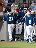The Rangers of Clements High School win the opening game of the Texas 5A regional baseball tournament against the Mustangs of Memorial in the best of 3 state Region 3 state semis at Rice University's Reckling Park.  The Rangers pulled ahead in late innings and won 7-5.