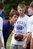 Eight Houston-area parochial schools participate in a summer 7-on-7 football league at Second Baptist. Playing in Game 4 are Kinkaid's Falcons vs Episcopal High School's Knights. Camp runs Tuesdays in June.