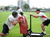 Houston's St. John's School holds Monday-morning football practice for upper-school athletes on  the Varsity and JV teams.