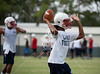 Houston's Lamar High School holds Monday-morning football practice for upper-school athletes on  the Varsity and JV teams.